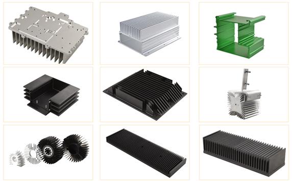 铝挤型+CNC加工散热片